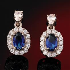 Blue Hope DiamondAura Earrings