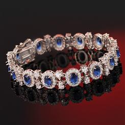 Blue Hope DiamondAura Bracelet