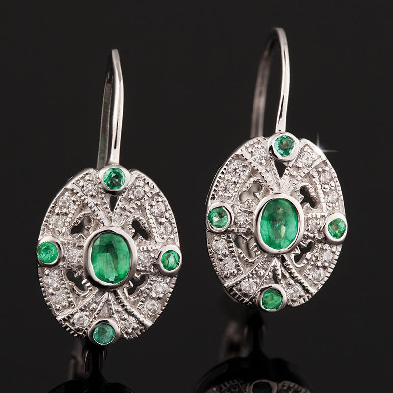 Moderne Emerald Earrings