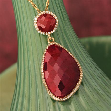 Red Lotus Ruby Pendant