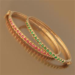 Precious Gems Bangle (Emerald)