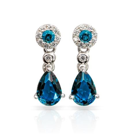 Gemdrop DiamondAura Earrings - Sapphire Blue