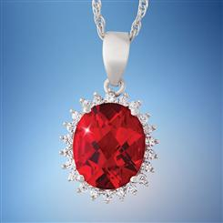 Red Hot Helenite Necklace