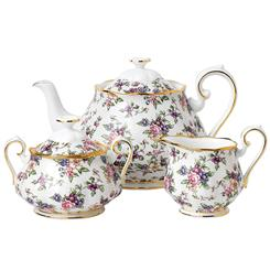 100 Years of Royal Albert 1940 English China 3-Piece Tea Set