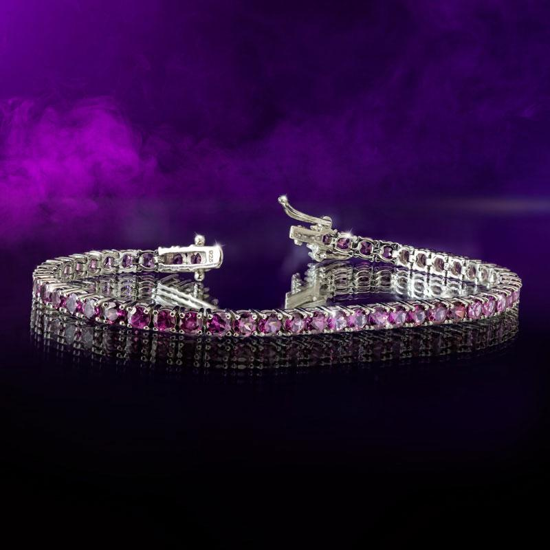 Grape-colored Garnet Tennis Bracelet
