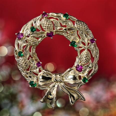 Cherished Wreath Pin