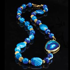 Blue Miracle Agate Necklace