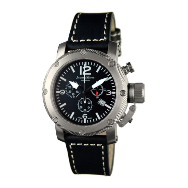 Swiss-Made Jacques du Manoir Stainless Steel Chronograph