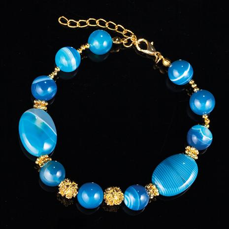 Blue Miracle Agate Bracelet