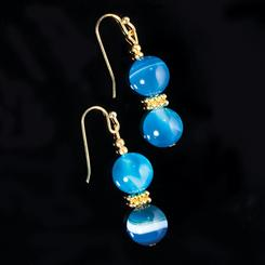 Blue Miracle Agate Earrings