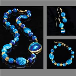 Blue Miracle Agate Collection