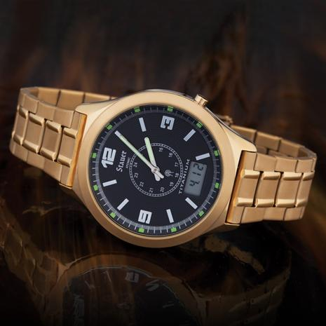 Stauer Atomic Watch (Gold Finished)