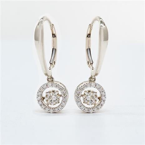 14K Gold Dancing Diamonds Earrings