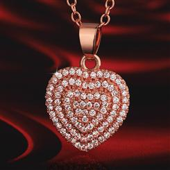 Valentines Heart Pendant & Necklace