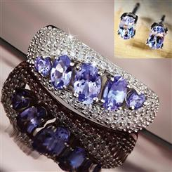 Tanzanite Revolution Ring and Earrings