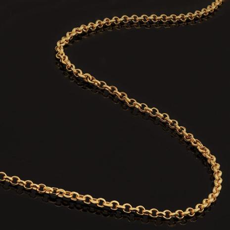 """Gold-finish Sterling Silver Chain (18"""")"""