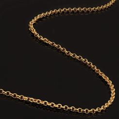 Gold-finish Sterling Silver Chain