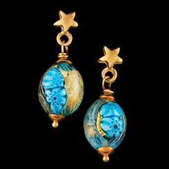 Tuscan Sky Murano Earrings