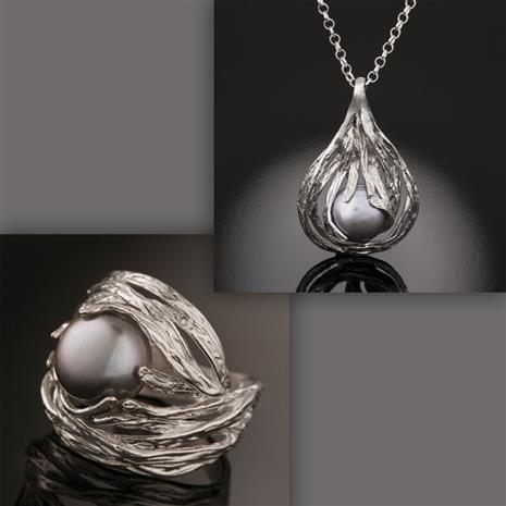 Holy Land Pearl Ring & Necklace