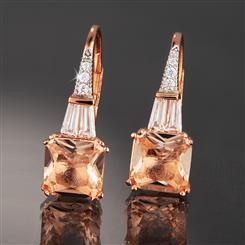 DiamondAura Pink Champagne Earrings
