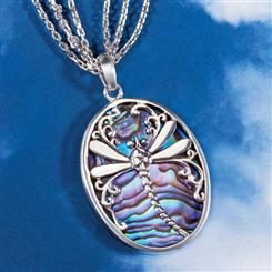 Good Fortune Dragonfly Pendant & 3-Strand Chain