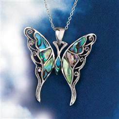 Good Fortune Butterfly Pendant & Chain