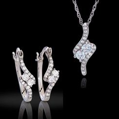 DiamondAura Forever Infinity Necklace & Earrings