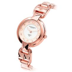 Akribos Rose Gold-finished Diamond Dial Watch