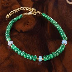 Emerald & Opal Promise Necklace