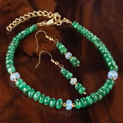 Emerald & Opal Promise Earrings & Bracelet