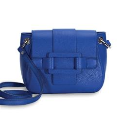 Allegra Italian Leather Handbag (Blueberry)