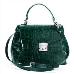 Italian Leather Verde Handbag