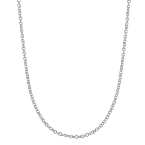 """14K WHITE GOLD CABLE CHAIN, 20"""""""