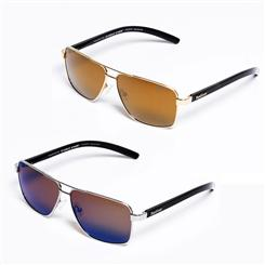Eagle Eyes Torque Sunglasses set (silver/black & gold/black)