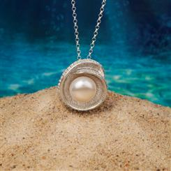 Nautilus Shell Pearl Necklace