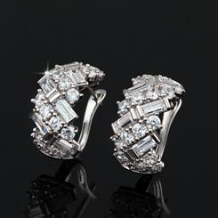 DiamondAura Happy Anniversary Earrings