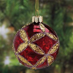 Hand-Painted Red Glass Ornament (4)