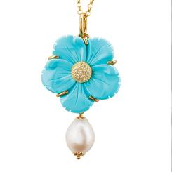 Turchese il Fiore Collection Pendant