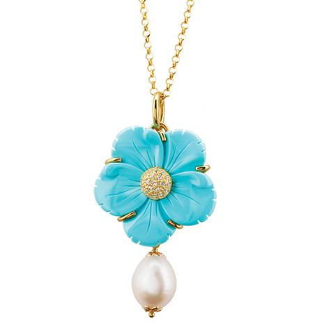 Turchese il Fiore Collection Pendant plus chain