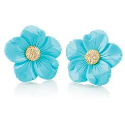 Turchese il Fiore Collection Earrings