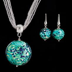 Paradiso Murano Collection Necklace & Earrings