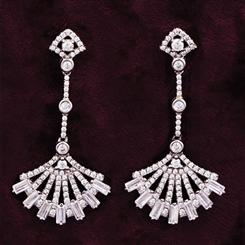 Brise Fan DiamondAura Earrings
