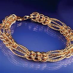 14K Gold Cestino Collection Bracelet