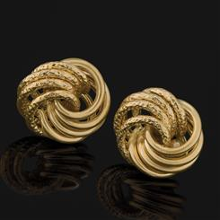 14K Gold Italian Love Knot Earrings