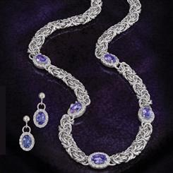 Giorno Moderno Byzantine Collection (Necklace and Earrings)