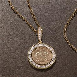 Eternal City Coin Pendant and Chain
