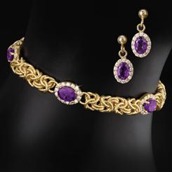 Imperial Amethyst Collection (Necklace and Earrings)