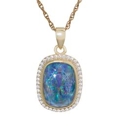 Rainbows at Twilight Opal Triplet Pendant