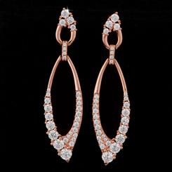 DiamondAura Teardrop Earrings