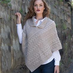 Genuine Irish Wool Ladies Poncho